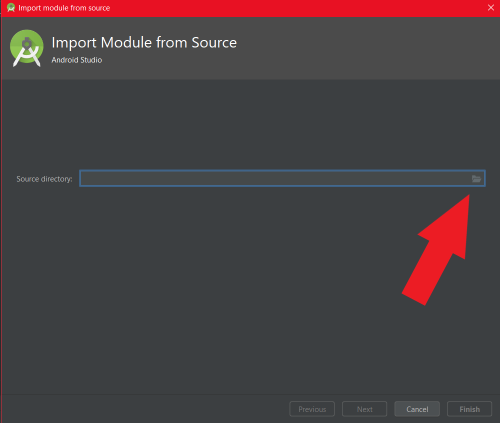 Import Module Screen Shot