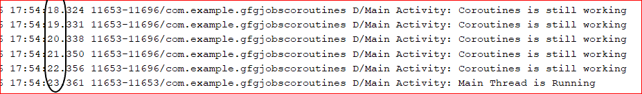 Log Output