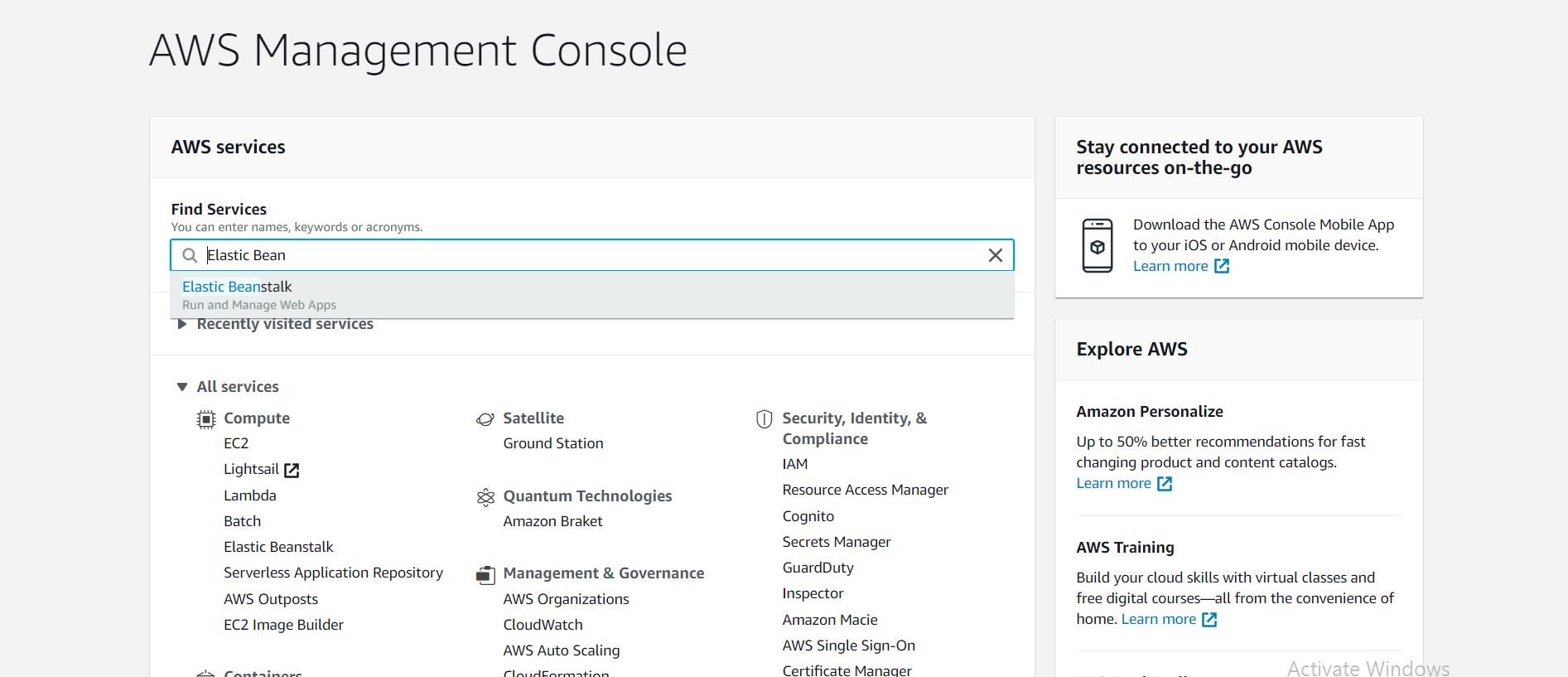 AWS Console
