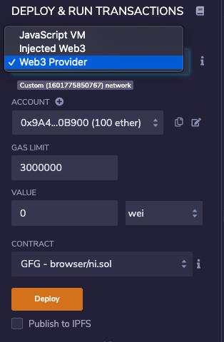 Enter TestRPC Server
