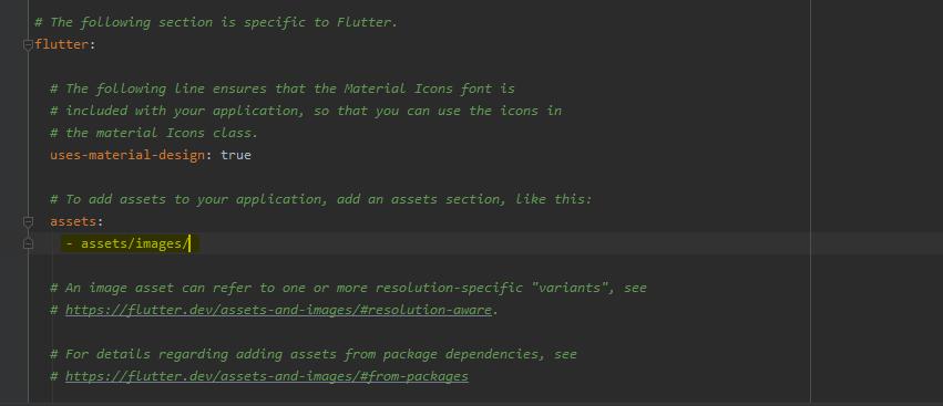 pubspec.yaml file