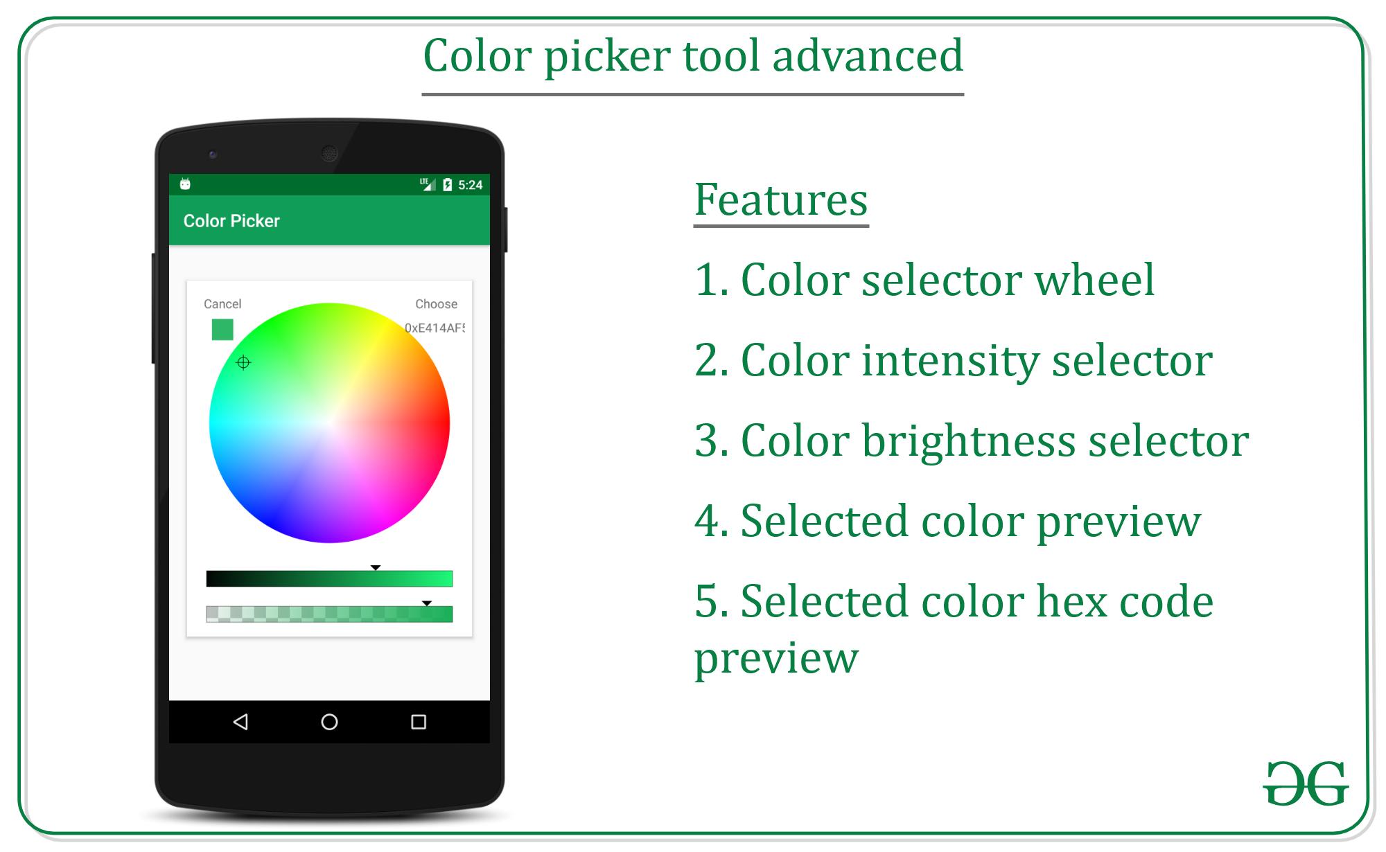 Color picker tool advanced