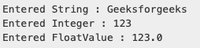 Take user input in Java