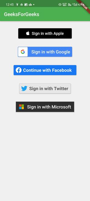social auth buttons