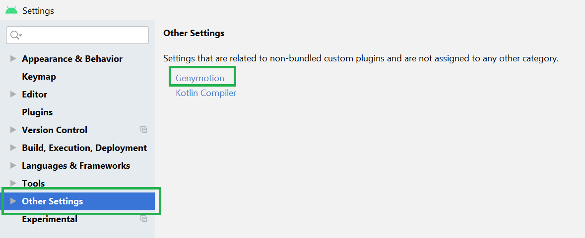 add Genymotion Plugin to Android Studio
