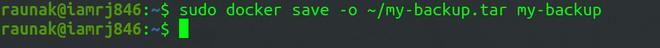 Saving Backup