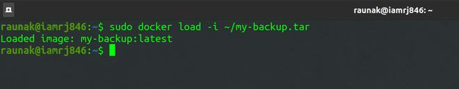 Docker Load Command