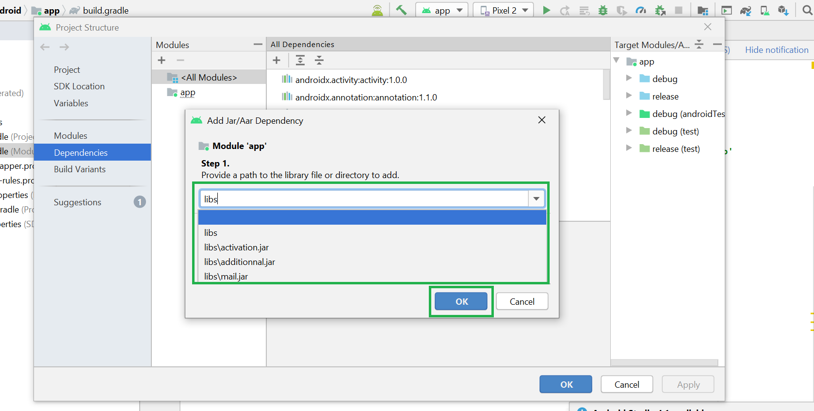 Import External JAR Files in Android Studio