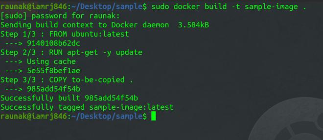 docker build