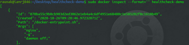 state of container