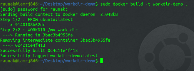 building docker image