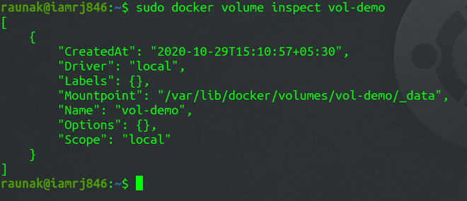 Inspecting Docker Volumes