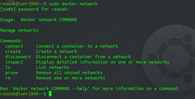 Docker Network Command
