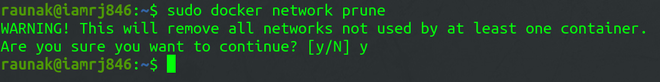 Docker Network prune sub-command