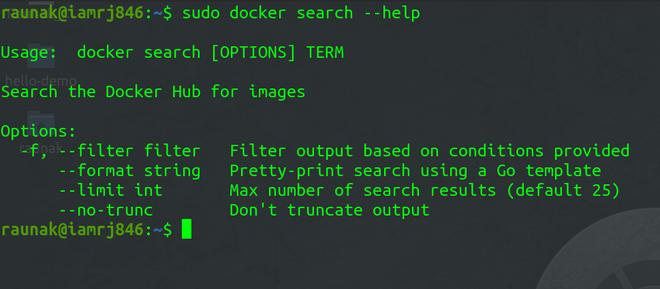 Docker Search Manual