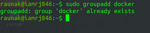 adding a user to the Docker group