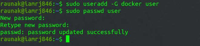 assign a password