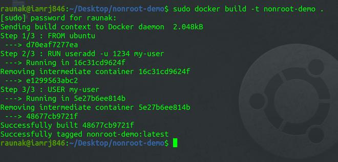 Specify in Dockerfile