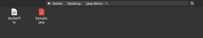 Create the Dockerfile
