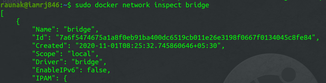 network inspect bridge