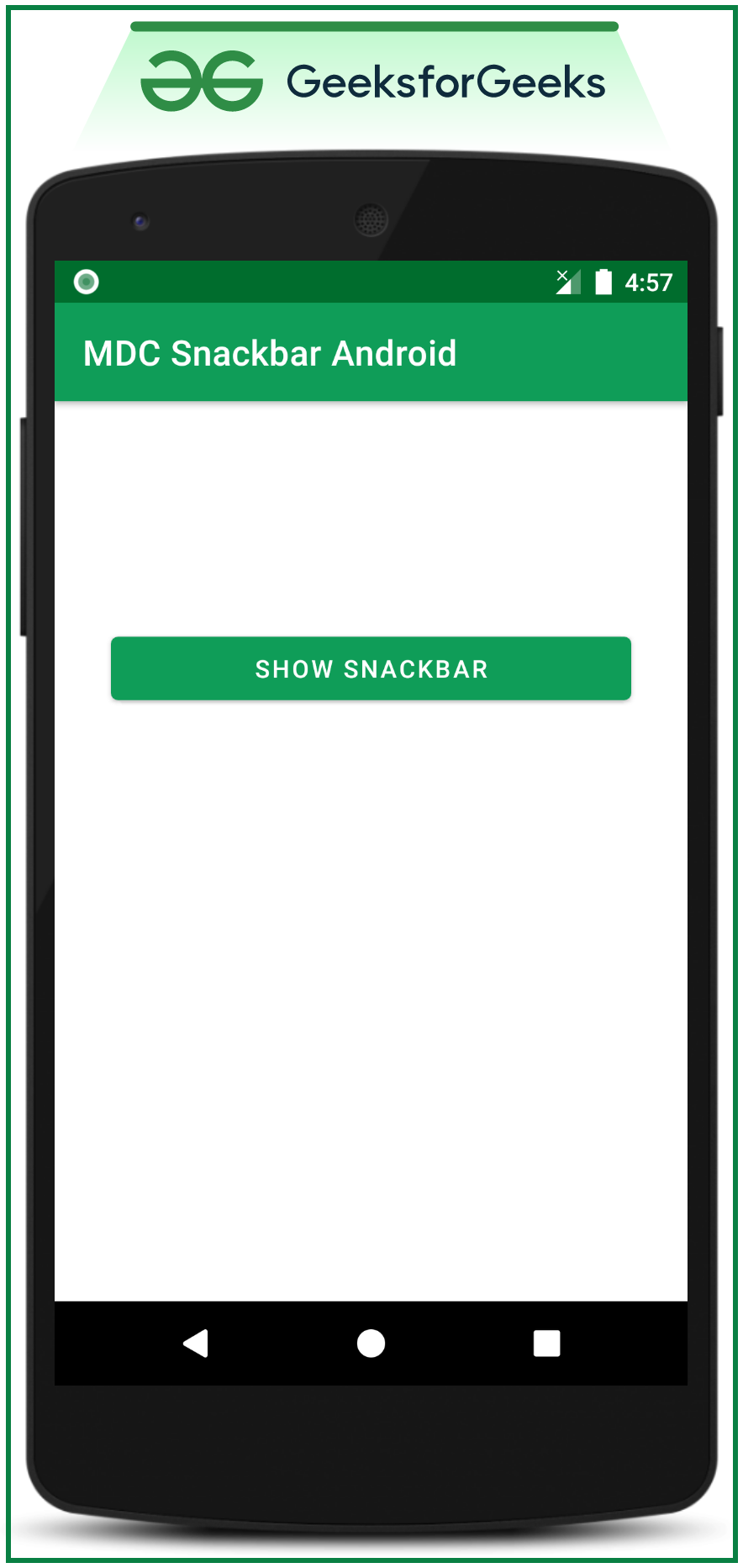 Snackbar Material Design Components in Android