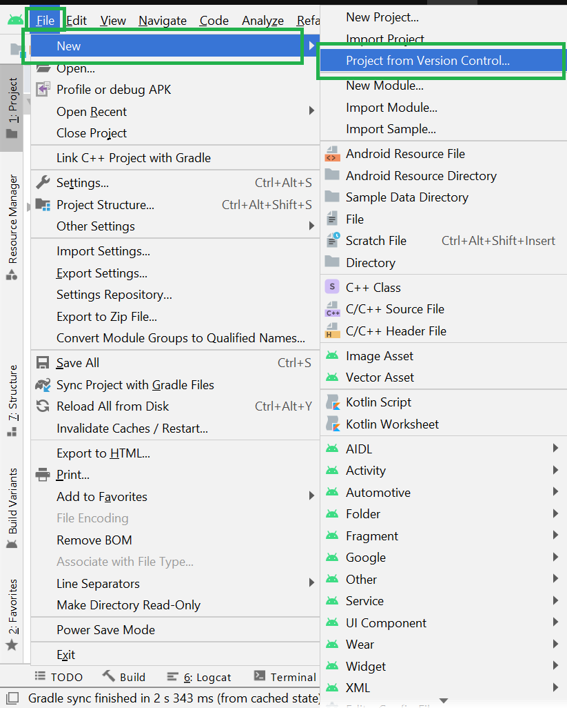 Clone Android Project from GitHub in Android Studio
