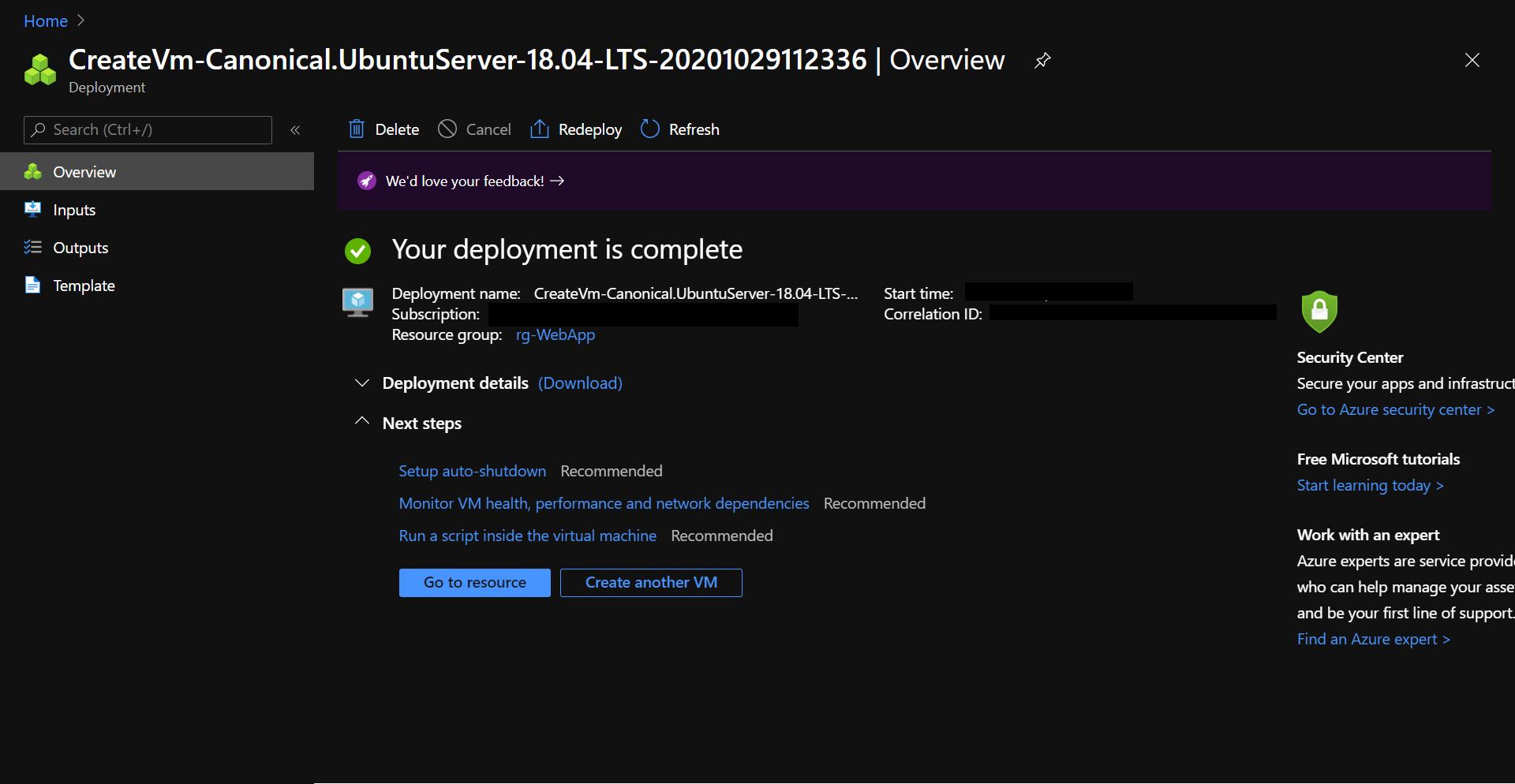 Virtual machine deployment overview.