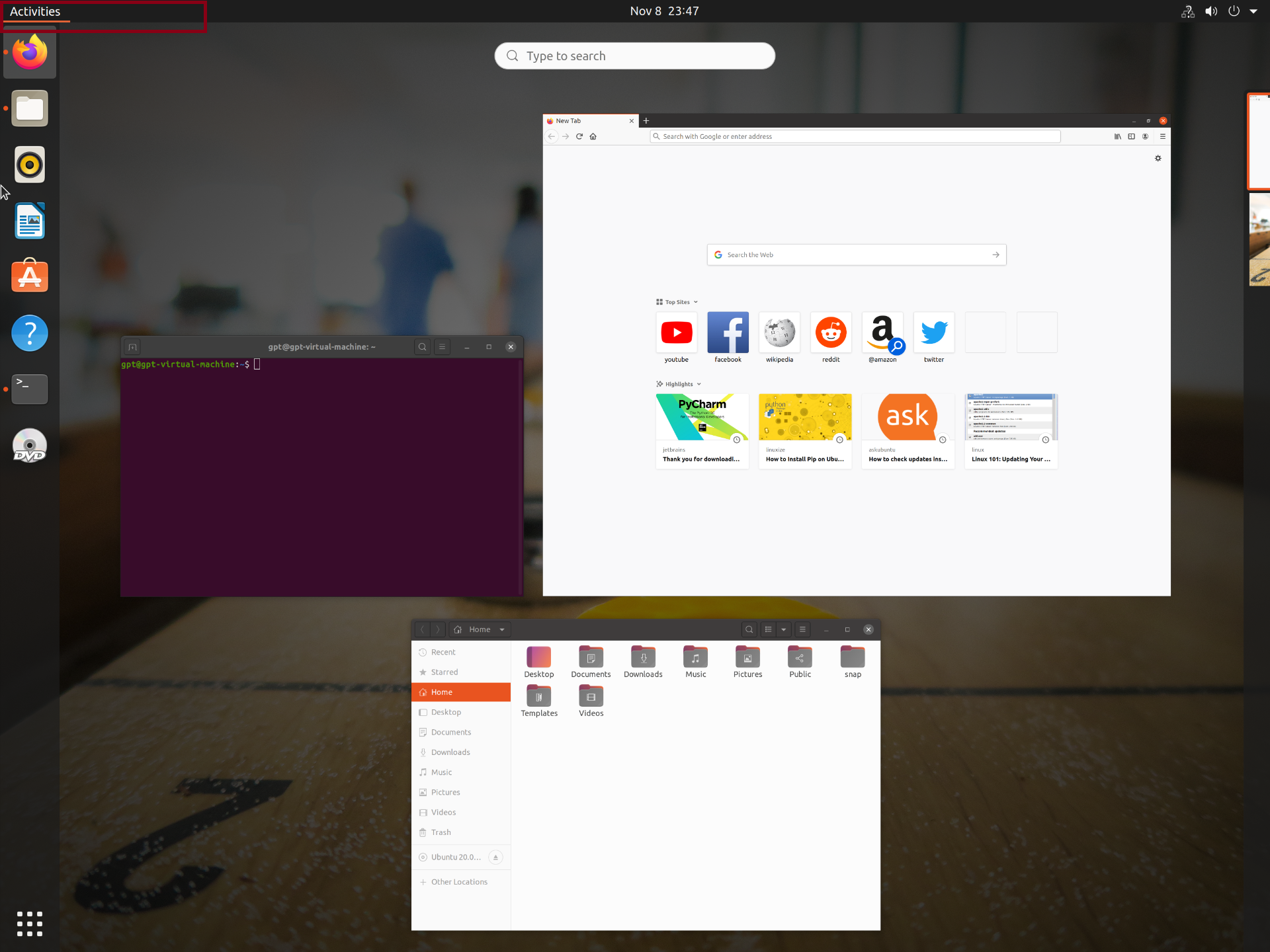 Redhat Linux GUI Interface