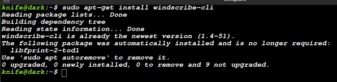 installing windscribe client