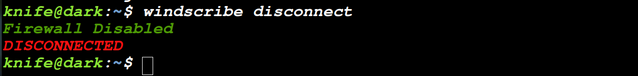 windscribe disconnect