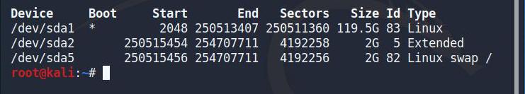 fdisk disk listing