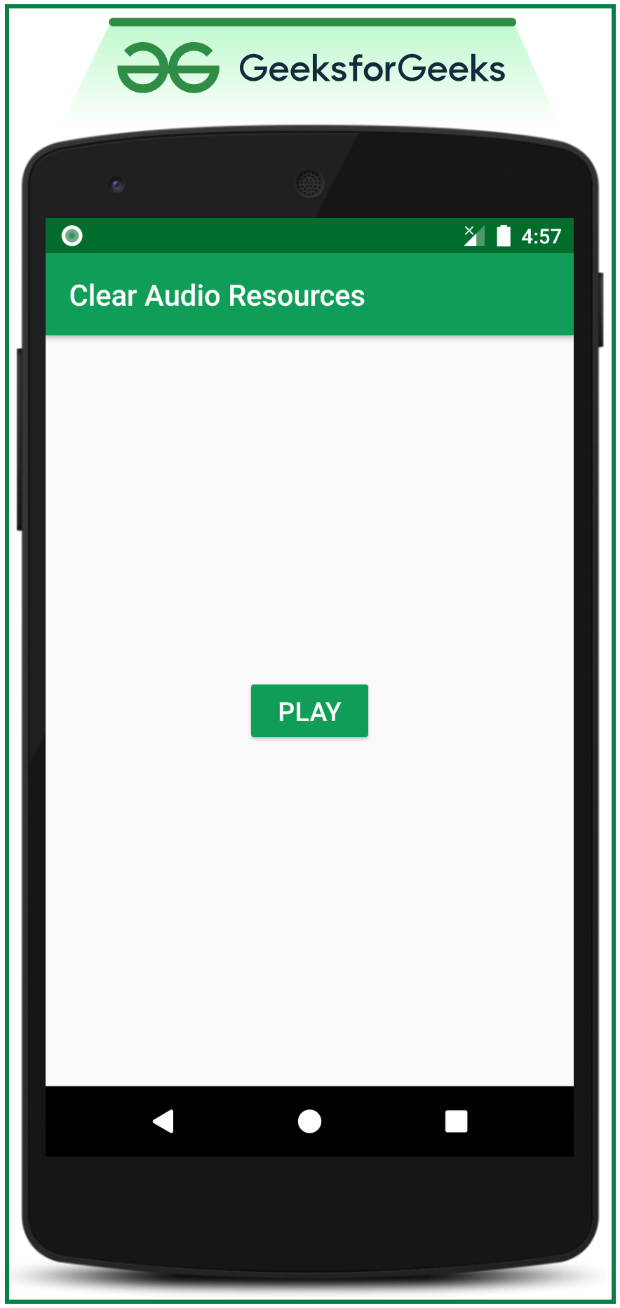 Clear or Release Audio resources in Android