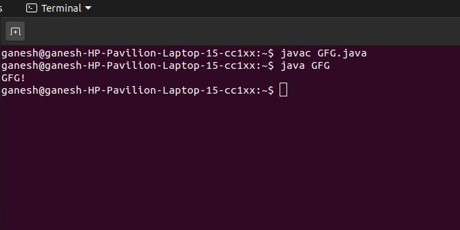 Run a class file in java