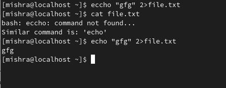 "2>stderr error redirection"" srcset=""https://media.geeksforgeeks.org/wp-content/uploads/20201125214826/1.png, "" sizes=""100vw"" width=""445″></figure> <p style="