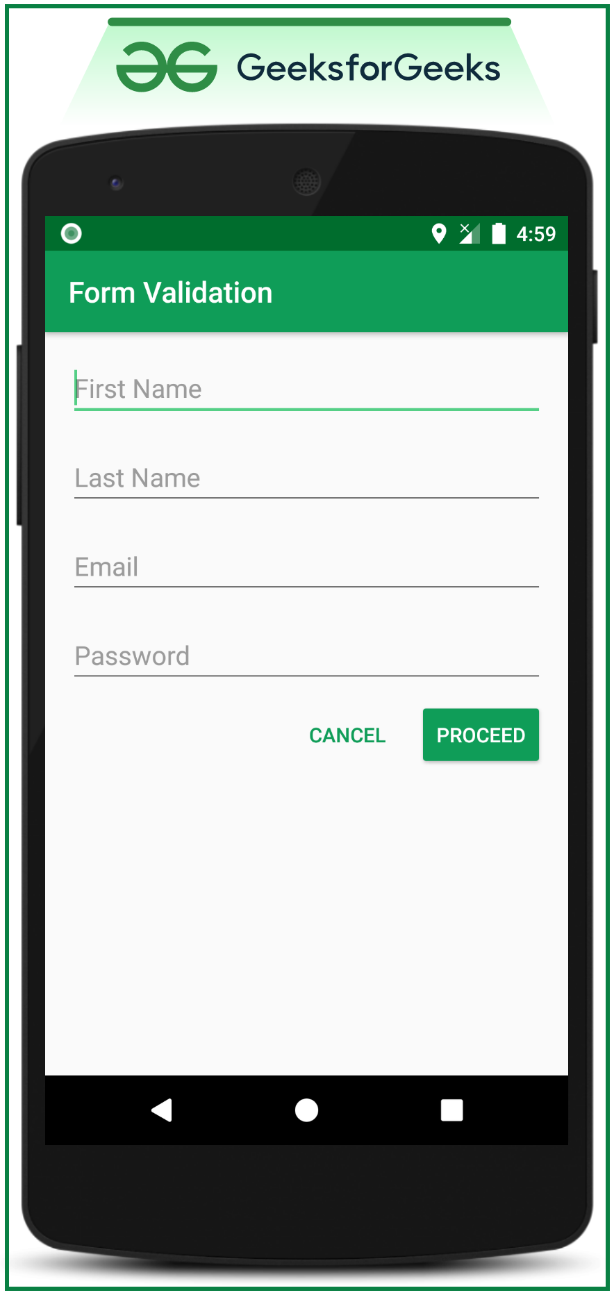 Form Validation in Android