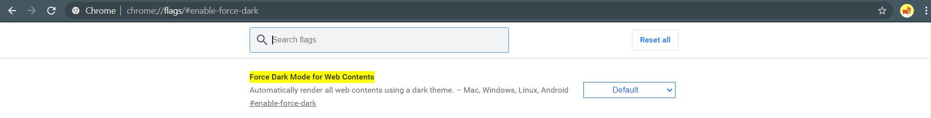 How to Force Dark Mode on Web Contents in Chrome-GeeksforGeeks