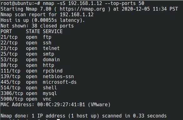 nmap in linux
