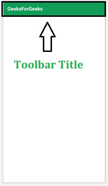 Toolbar Title