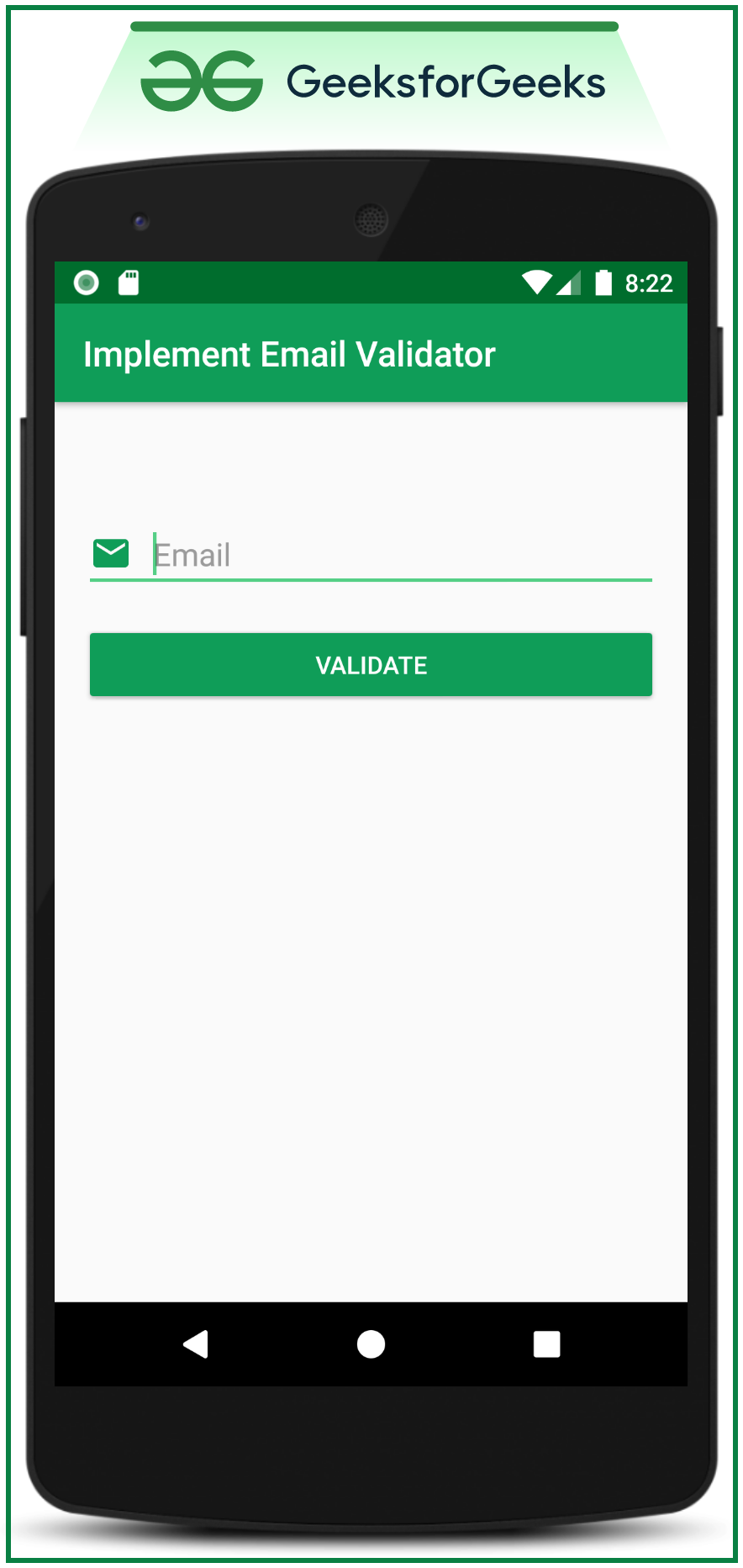 Implement Email Validator in Android