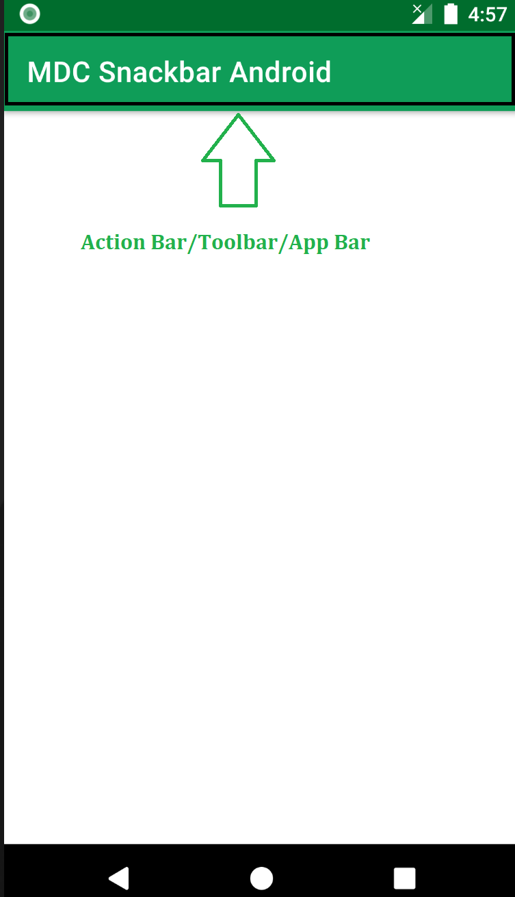 Action Bar/Toolbar/App Bar