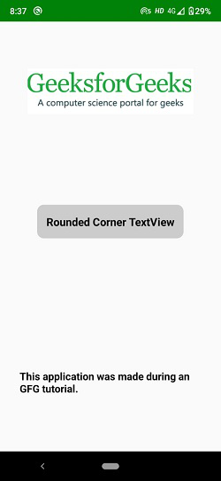 TextView with Rounded Corner in Android