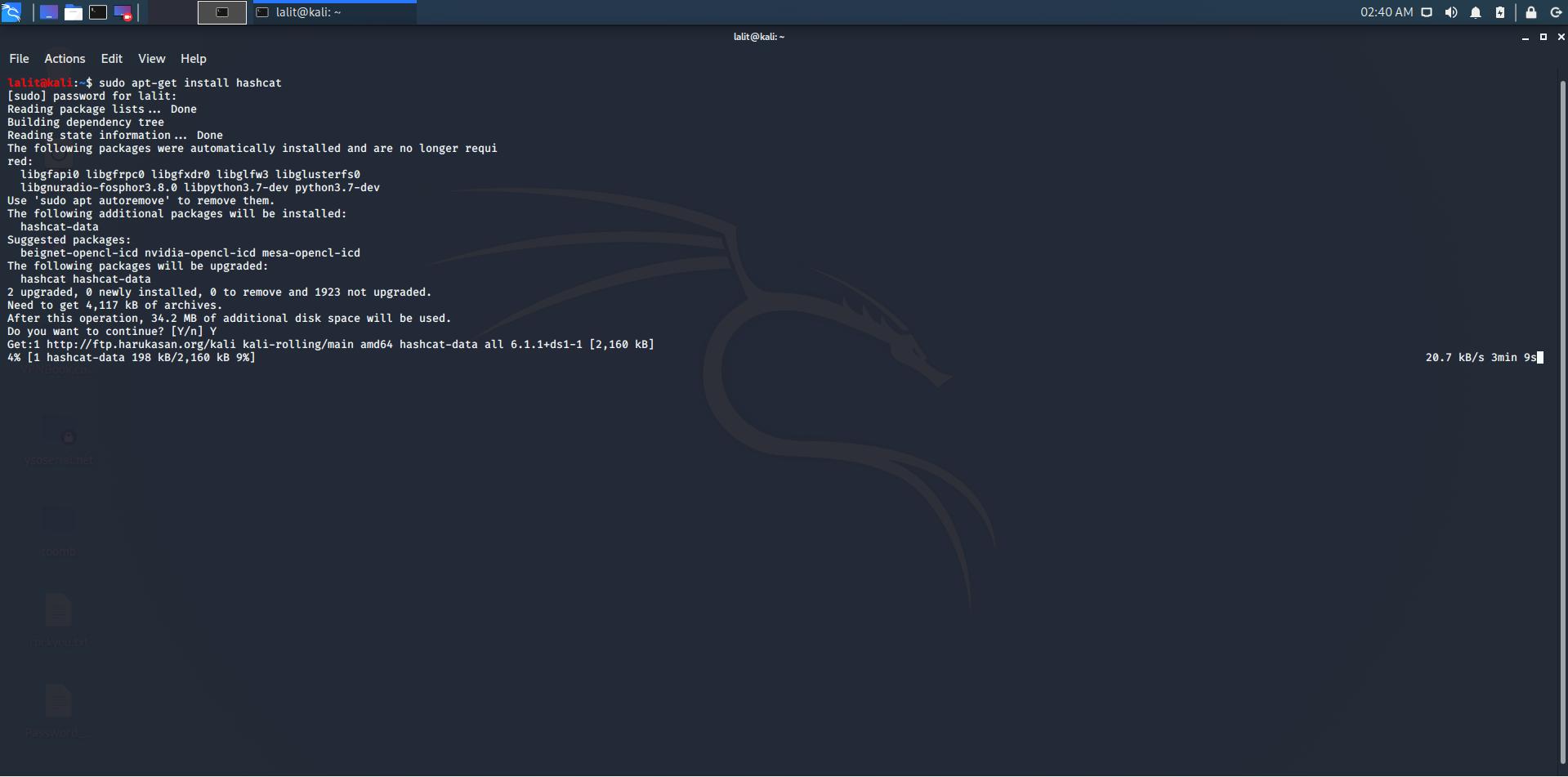 installing hashcat