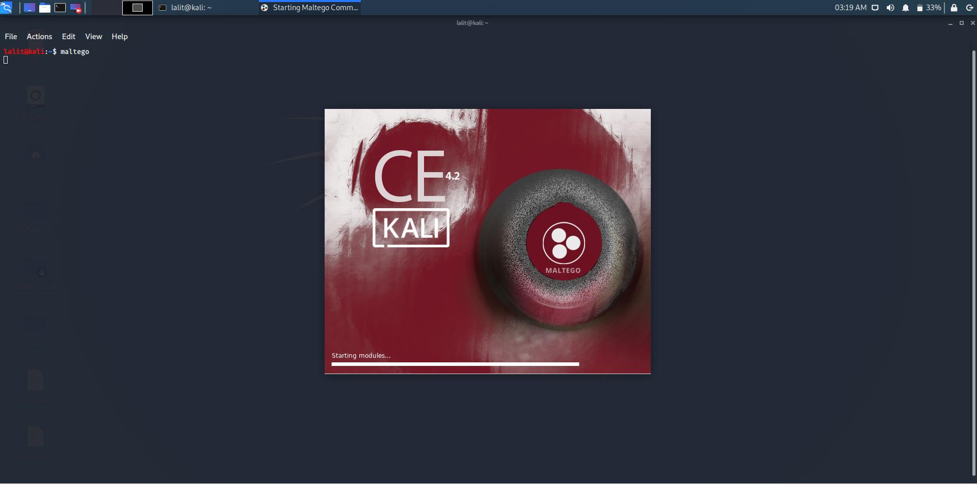 Maltego tool in kali linux