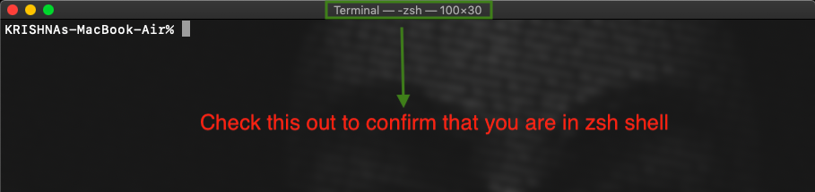 Confirm this to know whether your bash is converted to zsh shell or not