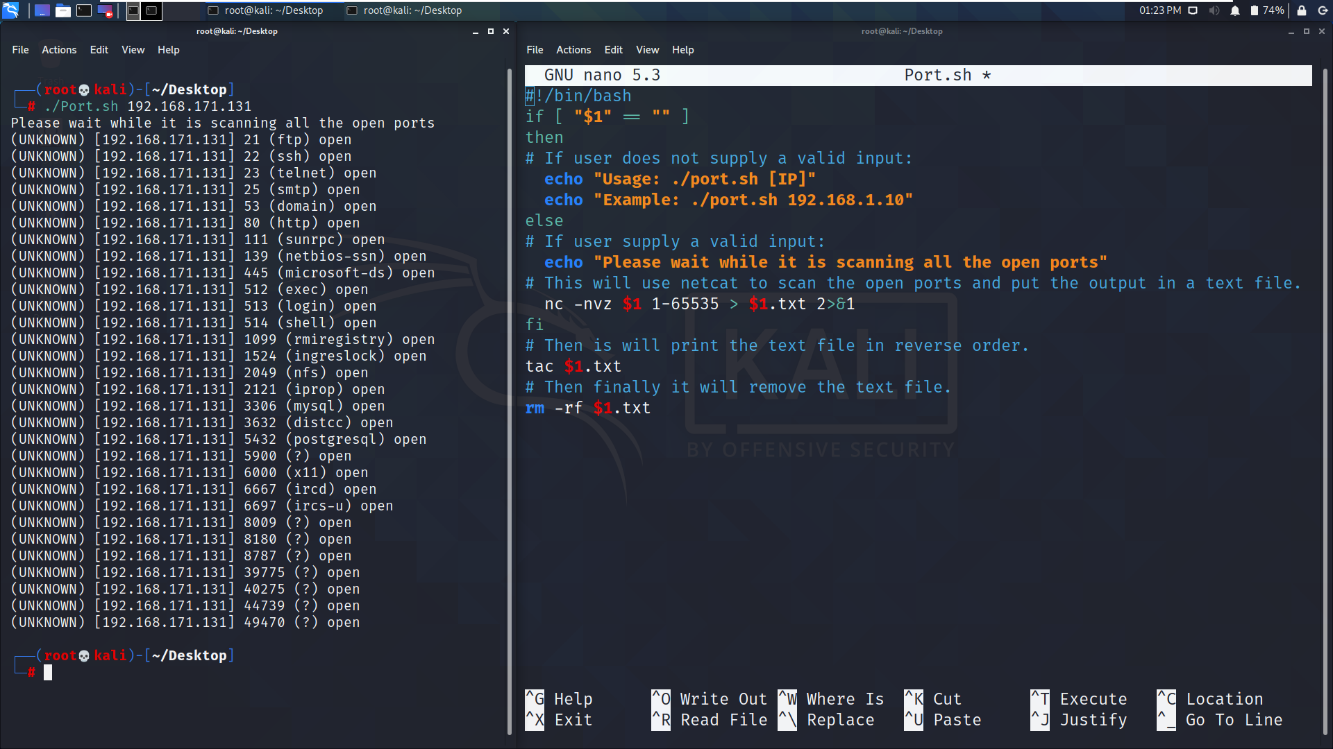 How to code your own port scanner using BASH script and netcat tool