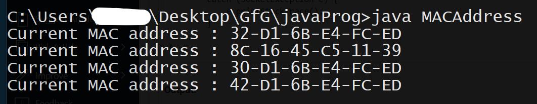 multiple mac addresses