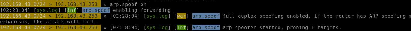 Start the ARP spoofer