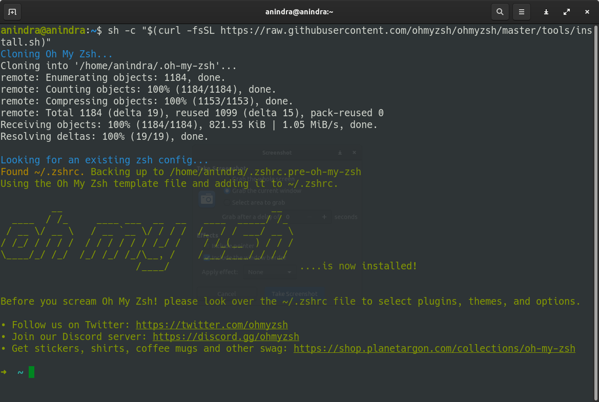 Install Oh My Zsh