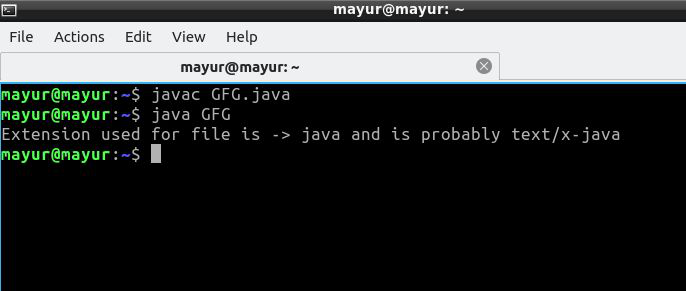 Java Program to Get the File Extension