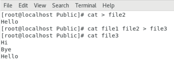 Concatenate files — adding two files into another a new file
